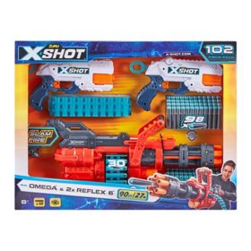 X-Shot Combo Pack OMEGA and 2 Reflex 6