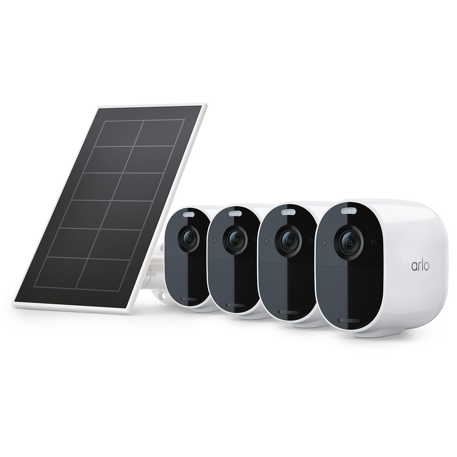 4-Pack Arlo Essential Spotlight Cameras + Solar Panel