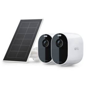 Arlo Essential Spotlight Camera + Solar Panel (2 Cameras + 1 Solar Panel)