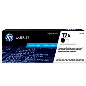 HP 12A Black Original LaserJet Toner Cartridge - Bonus Club Yield