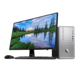 "HP Pavilion 23.8"" FHD Desktop Bundle, Intel Core i3-8100 Processor, 20GB Memory: 16GB Intel Optane + 4GB DDR4-2400, 1TB Hard Drive, 23.8"" Monitor, Wired Keyboard & Mouse, 2 Year HP Care Pack"