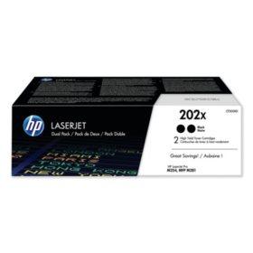 HP 202X, 2-Pack High Yield Black Original LaserJet Toner Cartridge
