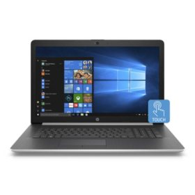 """HP Touchscreen 17.3"""" HD+ Laptop, Intel Core i7-8565U, 8GB Memory, 512GB Solid State Drive, TrueVision HD Webcam, Optical Drive, 2 Year Warranty Care Pack, Windows 10 Home, Multiple Colors"""