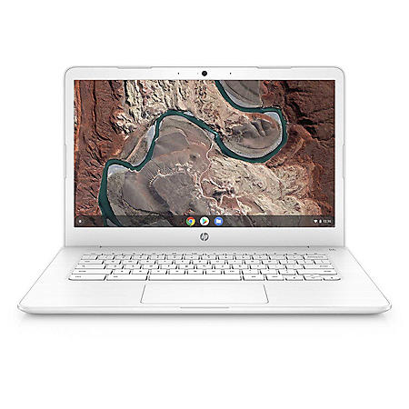 """HP 14"""" HD Chromebook, AMD Dual Core A4 Processor, 4GB Memory, 32GB eMMC Storage, HP HD Webcam, 1-year Google One Free Trial, 2-Year HP Care Pack with Accidental Damage Protection"""