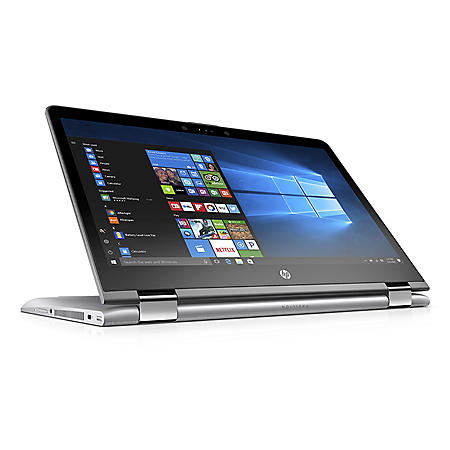 """HP Pavilion X360 14.0"""" Convertible Touchscreen Laptop, Intel Core i3-7100U Processor, 8GB Memory, 256GB SSD Storage, 2 Year Warranty Care Pack with Accidental Damage Protection, Windows 10 Home"""