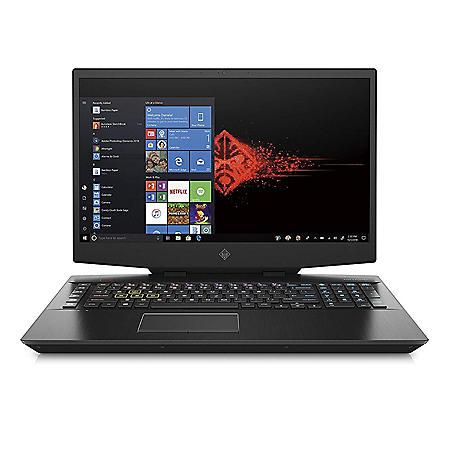 "OMEN by HP 17.3"" Gaming Laptop, Intel Core i7-9750H Processor, 8GB Memory, 512GB SSD Storage, Backlit Keyboard, NVIDIA GeForce GTX 1660 Ti (6 GB GDDR6 dedicated) Graphics, Windows 10 Home"