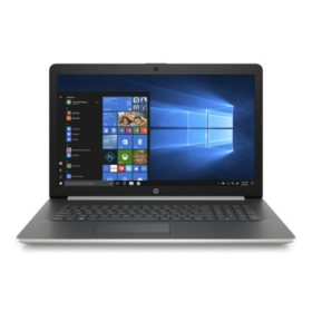"""HP 17.3"""" HD+ Laptop, Intel Core i7-8565U Processor, 8GB Memory, 256GB SSD Storage, Optical Drive, Backlit Keyboard, 2-Year HP Care Pack with Accidental Damage Protection, Windows 10 Home"""