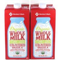 Member's Mark Organic Whole Milk (64 fl. oz., 2 pk.)
