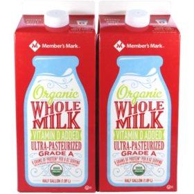 Member S Mark Organic Whole Milk 64 Fl Oz 2 Pk Sam S Club