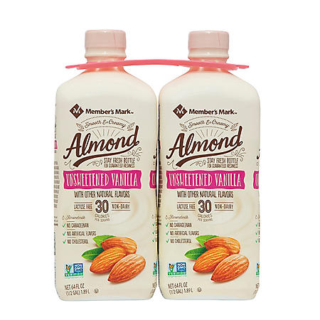 Member's Mark Unsweetened Vanilla Almond Milk (64 fl. oz., 2 pk.)