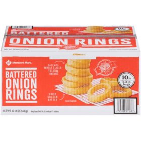 Member's Mark Battered Onion Rings, Frozen (10 lbs.)