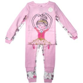 Member's Mark Girl's 4-Piece Cotton Pajama Set