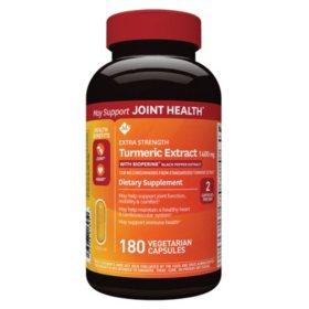 Member's Mark Extra Strength Turmeric Extract, 1400mg Vegetarian Capsules (180 ct.)