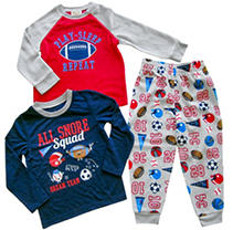 Sports 4T Member's Mark Boy's 3-Piece Fleece Pajama Set