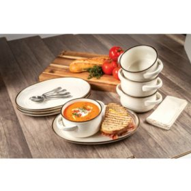 Member's Mark 8-Piece Bowl and Appetizer Set (Assorted Colors)