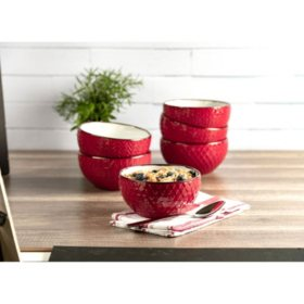 Member's Mark Texture Bowls, Set of 6 (Assorted Colors)