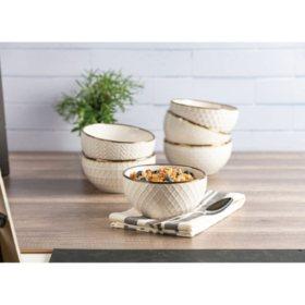 Member's Mark Texture Bowls, Set of 6 (Assorted Colors)