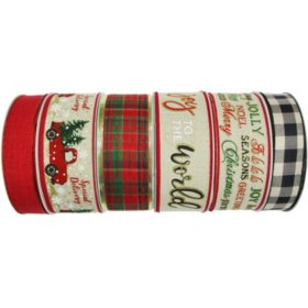 Member's Mark Premium Wired Holiday Ribbon (Rustic Charm)