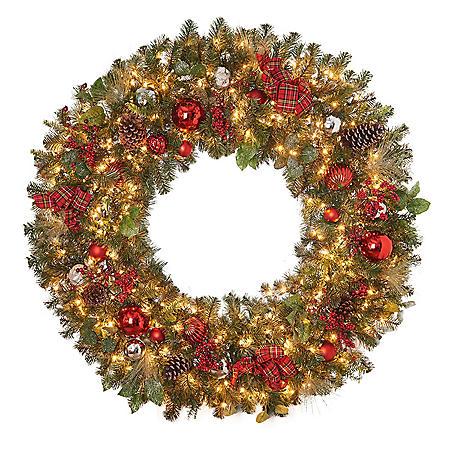 "Member's Mark 60"" Pre-Lit Decorated Wreath"