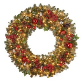 "Member's Mark 60"" Pre-Lit Decorated Wreath"