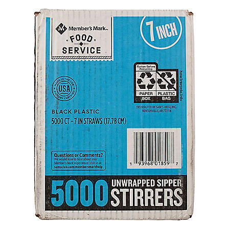 "Member's Mark 7"" Sipper Stirrers (5,000 ct.)"