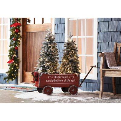 Member S Mark Vintage Wagon And Trees Flocked Sam S Club