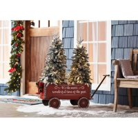 Members Mark Vintage Wagon and Trees (Flocked) Deals