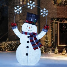 "Member's Mark 84"" LED Pop-Up Twinkling Snowman with Chasing Snowflakes"