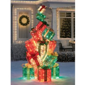 "Member's Mark 74"" Twinkling Gift Box Tower"