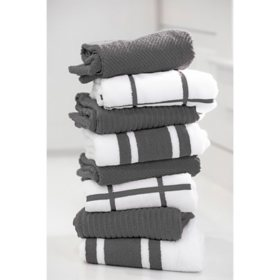 """Member's Mark 8-Pack Kitchen Towels, 20"""" x 28"""" (Assorted Colors)"""