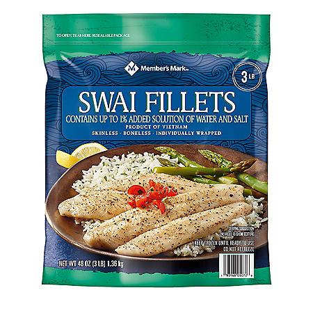 Swai Fillets, Frozen (3 lb.)