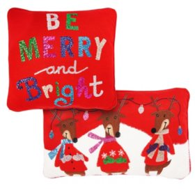 Member's Mark Holiday Pillows (2 pk.) (Merry and Bright)