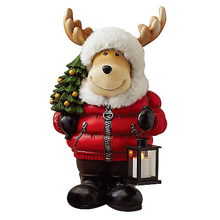 Member's Mark Moose with Fur and LED Lantern