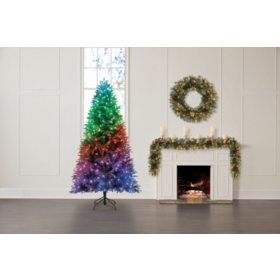 Member's Mark Twinkly 7.5' Smart App Programmable Color-Changing Christmas Tree