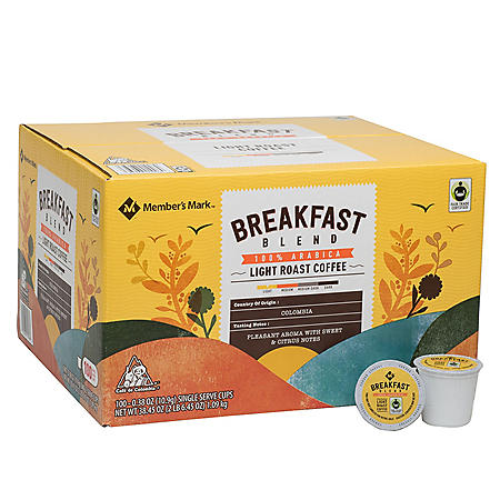 Member's Mark Breakfast Blend, Single-Serve Cups (100 ct.)