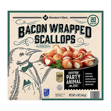 Member's Mark Bacon-Wrapped Scallops, Frozen (20 ct.)