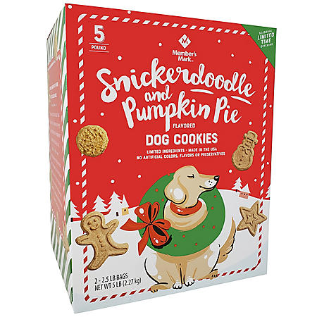 Member's Mark Snickerdoodle and Pumpkin Pie Flavored Dog Cookies (5 lbs.)