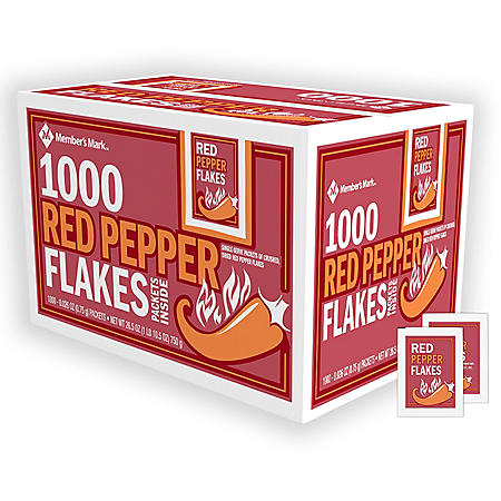 Member's Mark Crushed Red Pepper Packets, Bulk (1,000 ct.)