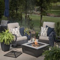 """Member's Mark 36"""" Wood Burning Fire Pit & Table"""