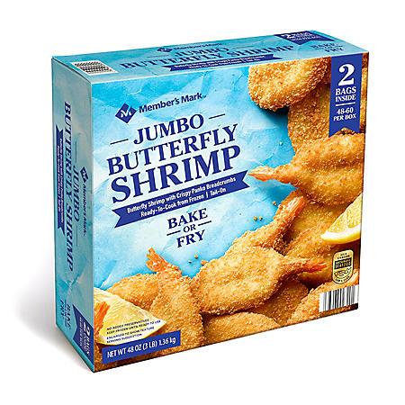Member's Mark Jumbo Breaded Butterfly Shrimp (48-60 shrimp per box)