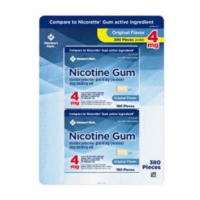 Member's Mark 4 mg Nicotine Polacrilex Gum, Uncoated Original Flavor (300 ct.)