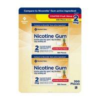 Member's Mark Nicotine Coated Gum 2mg, Fruit Flavor (300 ct.)