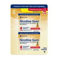 Member's Mark Nicotine Coated Gum 4mg, Fruit Flavor (300 ct.)