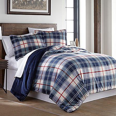 Member's Mark Lodge Collection Velvet Plush Comforter Set, 3-piece