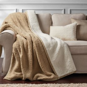 COZY TAUPE SOLID MM COZY THROW