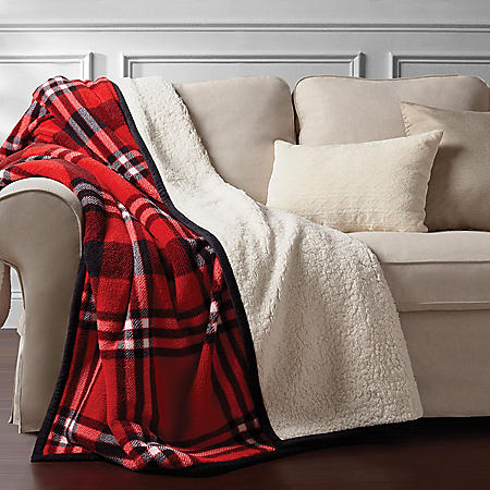 """Member's Mark Oversized Cozy Throw, 60"""" x 72"""" (Assorted Colors)"""