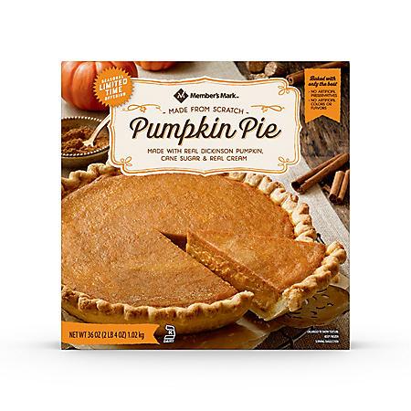 Member's Mark Pumpkin Pie, Frozen (36 oz.)
