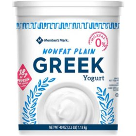 Member's Mark Plain Nonfat Greek Yogurt (40 oz.)