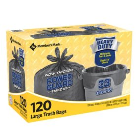 Member's Mark Power Guard Large Trash Simple Tie Trash Bags (33 gal., 120 ct.)