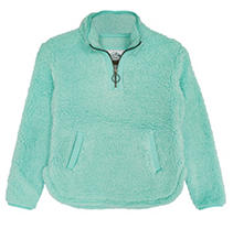 Turquoise 7/8 Member's Mark Kids Sherpa Pullover